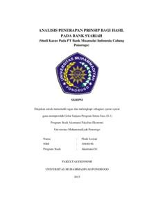 skripsi akuntansi syariah mudharabah