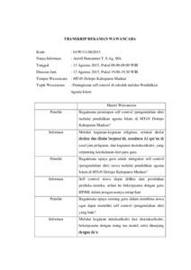 Contoh Wawancara Skripsi Contoh Soal Dan Materi Pelajaran 8