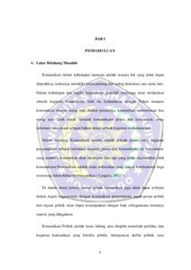 Strategi Komunikasi Politik Pasangan Bupati Dan Wakil Bupati Ipong Muchlissoni Dan Soedjarno Dalam Pemenangan Pada Pilkada Serentak 2015 Di Ponorogo Umpo Repository
